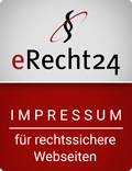 Siegel für Impressum von Anwaltskanzlei e-Recht24